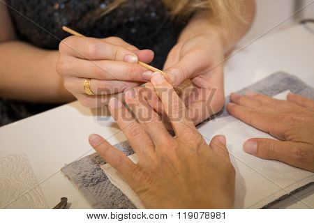 Healthy, Well Groomed Nails, Natural Beauty. Treatment Hand  Nail Care