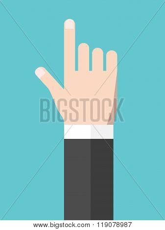 Touching Hand, Flat Style