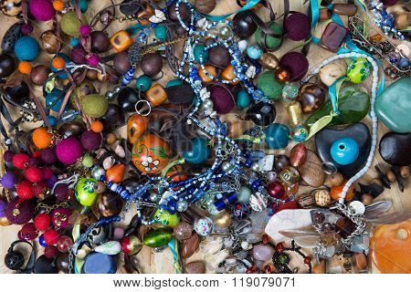 Assorted Gemstone Jewellery With Pearls, Necklaces, Rings, Bracelets And Chains