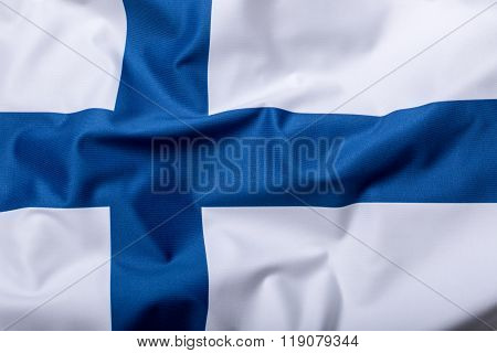 Flags of the Finland and the European Union. Finland Flag and EU Flag. World flag money concept