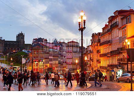 Porto Old Town Street. Portugal