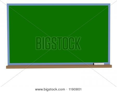 Blackboard With Chalk On A White Background