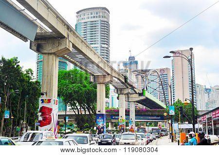 Kuala Lumpur Busy Traffic