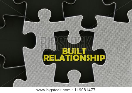 Jigsaw Puzzle Written Word Built Relationship