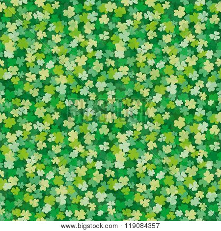 Vector seamless Clover leaves background pattern for your design