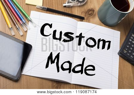 Custom Made - Note Pad With Text