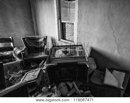 Old Abandoned House Interior