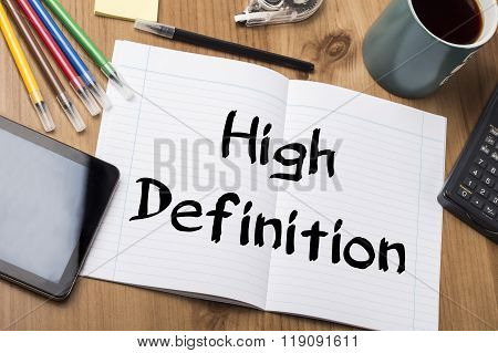 High Definition - Note Pad With Text
