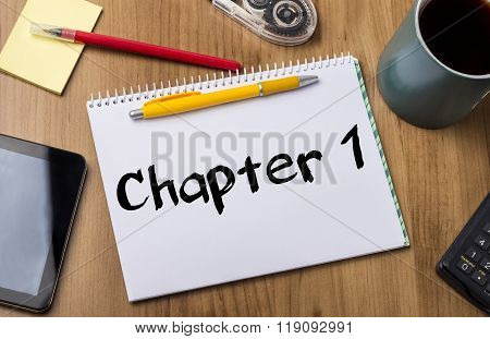Chapter 1  - Note Pad With Text