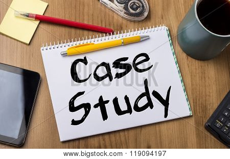 Case Study - Note Pad With Text