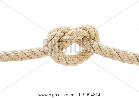 Rope Knot Isolated On White