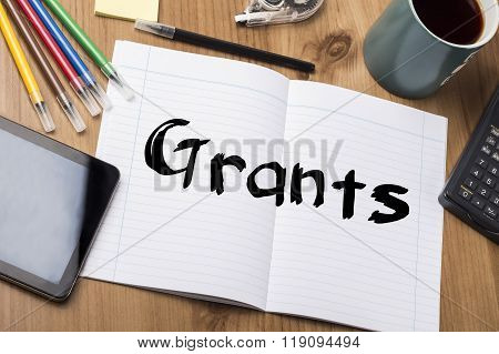 Grants - Note Pad With Text