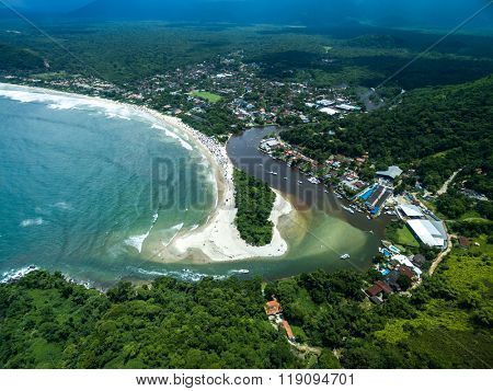 Aerial View of Brazilian Coastline
