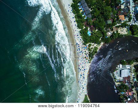 Top View of Barra do Una, Brazil