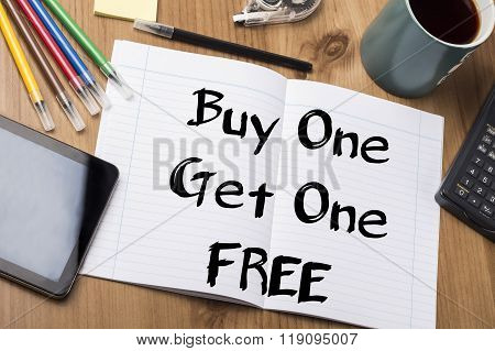 Buy One Get One Free - Note Pad With Text