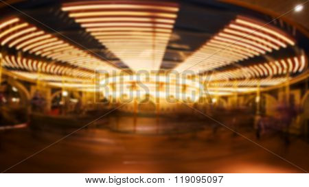 Motion Blurred Photo Of Carousel Or  Merry-go-round