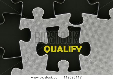 The White Jigsaw Puzzle Written Word Qualify