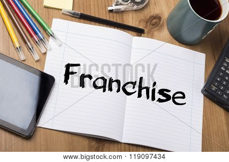 Franchise - Note Pad With Text