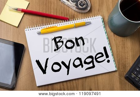 Bon Voyage! - Note Pad With Text