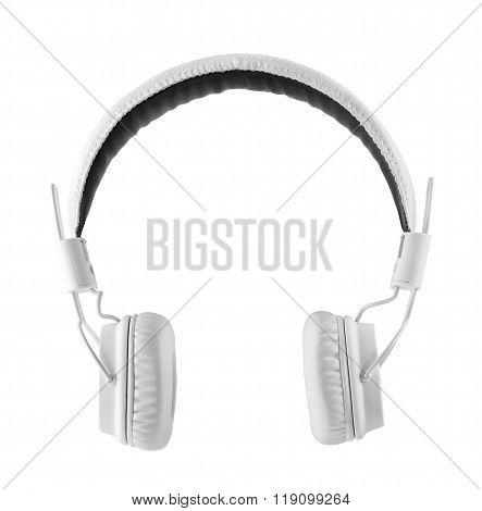 White leather headphone
