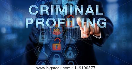 Law Enforcement Agent Touching Criminal Profiling