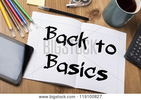 Back To Basics - Note Pad With Text