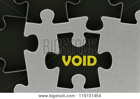 The White Jigsaw Puzzle Written Word  Void