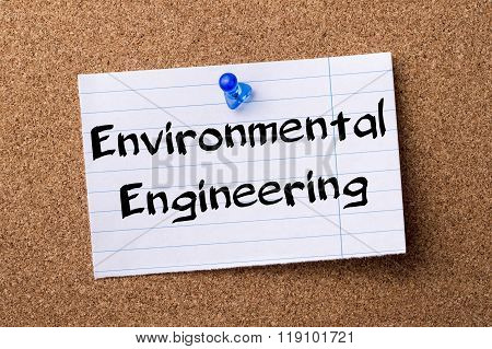 Environmental Engineering - Teared Note Paper Pinned On Bulletin Board