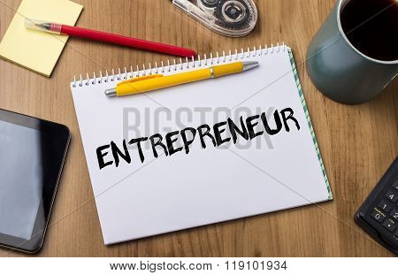 Entrepreneur - Note Pad With Text
