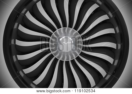 Jet Turbine Fan Closeup