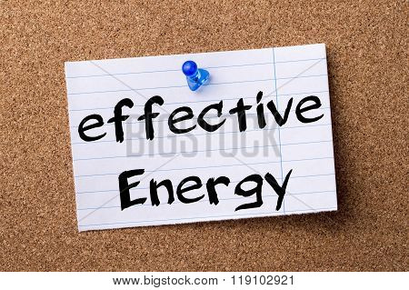 Effective Energy - Teared Note Paper Pinned On Bulletin Board