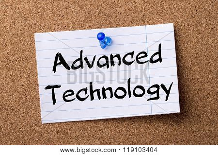 Advanced Technology - Teared Note Paper Pinned On Bulletin Board