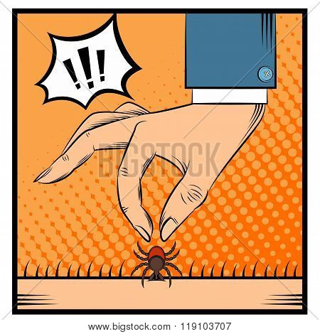 Removing the tick