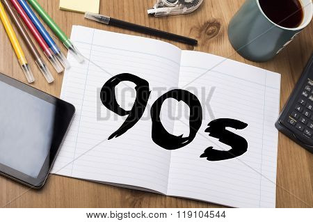 90S - Note Pad With Text