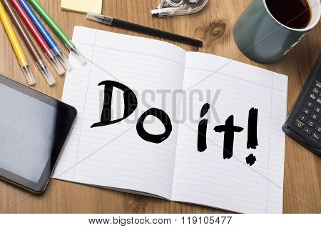Do It! - Note Pad With Text