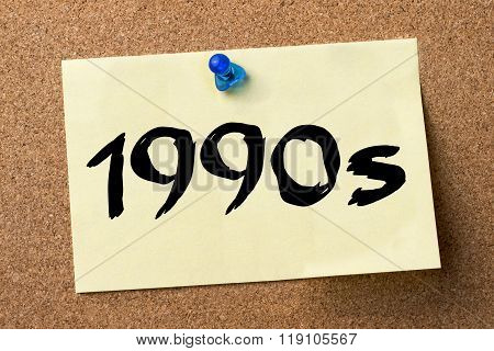 1990S  - Adhesive Label Pinned On Bulletin Board