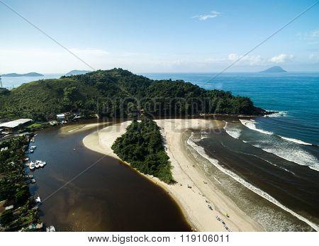 Aerial View of Barra do Una, Brazil