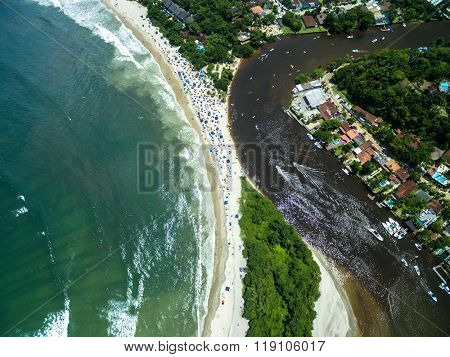 Aerial View of Barra do Una, Sao Paulo, Brazil