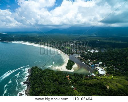 Aerial View of Barra do Una, Brazil