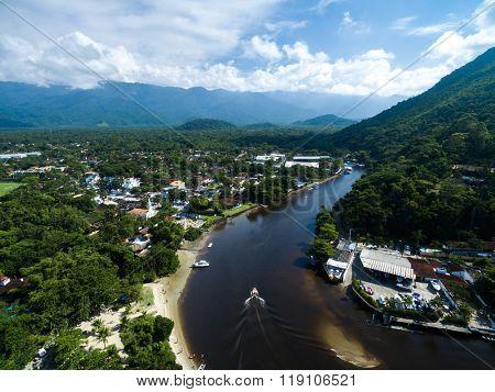 Aerial View of Sao Sebastiao Mountains, Brazil