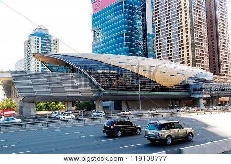 Metro Station In Dubai