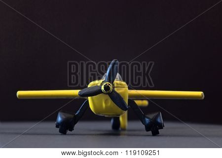 Yellow Toy Airplane