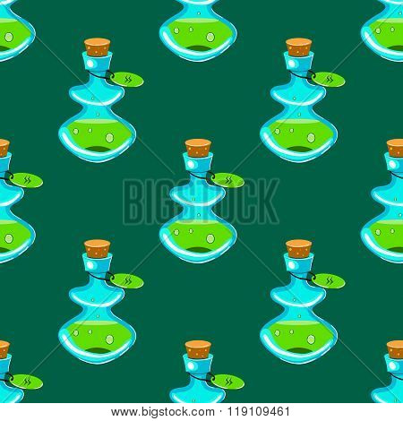 Seamless Pattern With Potion-2