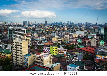 View Of Buildings In Sampaloc, In Manila, The Philippines.
