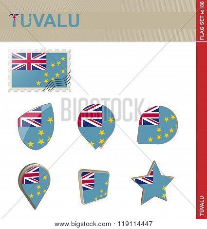 Tuvalu Flag Set, Flag Set #188