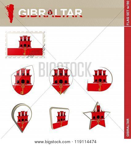 Gibraltar Flag Set, Flag Set #190