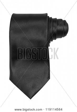 Black tie isolated on white background