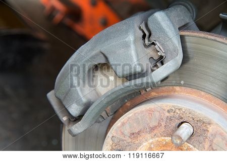 brake of the old car