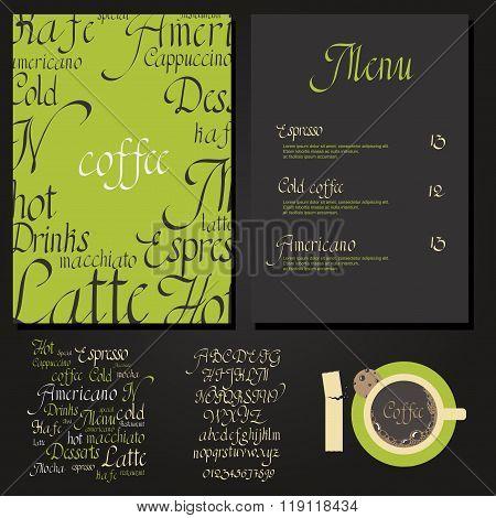 Kafe menu set