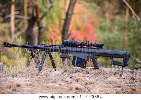Large-caliber Sniper Rifle With Telescopic Sight